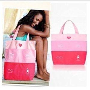 Victoria's Secret Multi-pocket Canvas Beach Tote